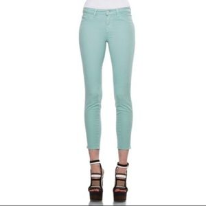 J Brand Green Mid-rise Capri/Cropped Jeans Size 30